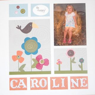 Stampin Up Scrapbook Page
