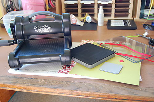 Stampin Up Big Shot Scallop Envelope Tutorial Step One Gather Your Supplies